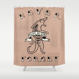 Never Forget - Thylacine Shower Curtain