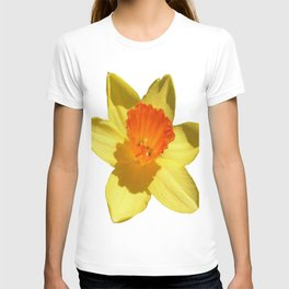 Daffodil Emblem Isolated On White T-shirt