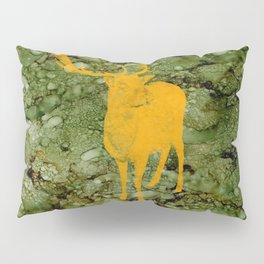 Deer on Green Camo Pillow Sham