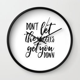 PRINTABLE ART, Don't Let The Muggles Get You Down,Kids Gift,Children Quote,Kids Room Decor,Nursery D Wall Clock