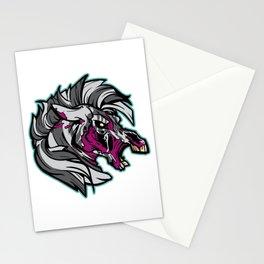 Zombie Zebra - Halloween Horror Stationery Cards