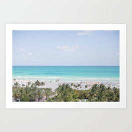 South Beach Miami  Art Print