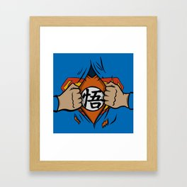 Super saiyan man Framed Art Print