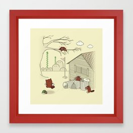 Unexpected Guest Framed Art Print