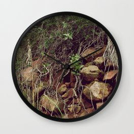 Red rocks in the forest III Wall Clock
