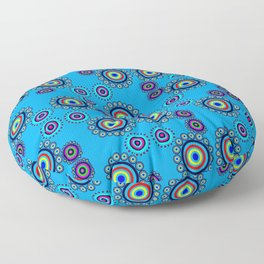 Bullseye Blue Floor Pillow
