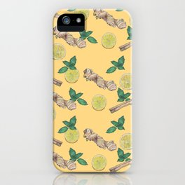 ginger lemon pattern iPhone Case