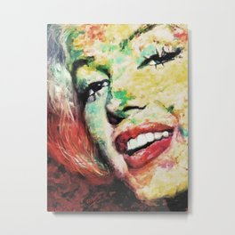 Marylin Happy Abstract Metal Print