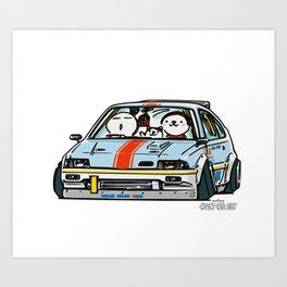 Crazy Car Art 0151 Art Print