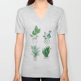 Indoor Plants Unisex V-Neck