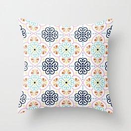 Pastel Moroccan Pattern Throw Pillow