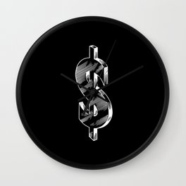 Money Cash Bank Capitalism Stock Market Wall Clock