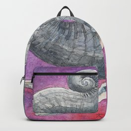Happy Elephant Watercolor Backpack