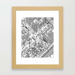 MacPaint project: NYC Framed Art Print