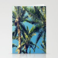palm tree Stationery Cards featuring Palm Tree by Jillian Stanton
