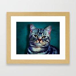 Cat #cat #kitty Framed Art Print