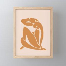 Henri Matisse Print - Abstract Art Poster -  Nude Minimalist Illustration LADY KNELT | large matisse | Modern Art | Nude Art | Feminist Framed Mini Art Print