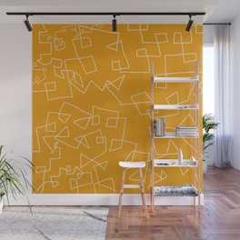 Gold and White Wall Mural