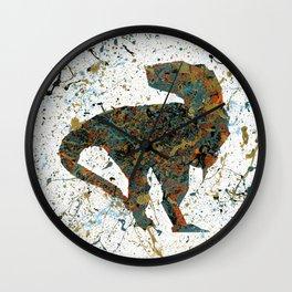 Jurassic Pollock Wall Clock