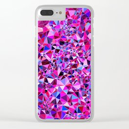 Abstract Pattern XVII Clear iPhone Case