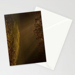 Sunbeams shining through Trees Stationery Cards