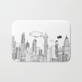 Gotham City Skyline Bath Mat
