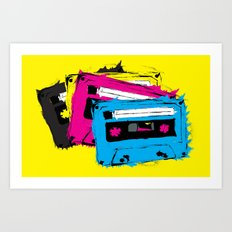Mix Tape (CMYK Variant) Art Print