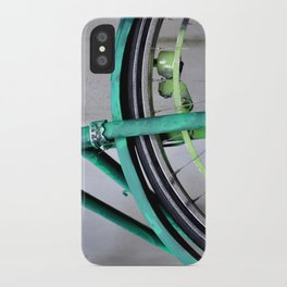 Green bike iPhone Case