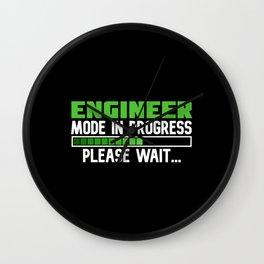 Engineer Mode in Progress Wall Clock