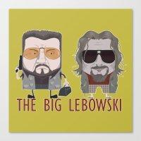 big lebowski Canvas Prints featuring The Big Lebowski by Francesco Dibattista