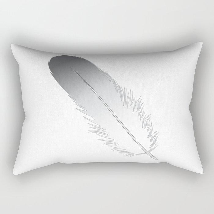 White Fuzz Feather Rectangular Pillow