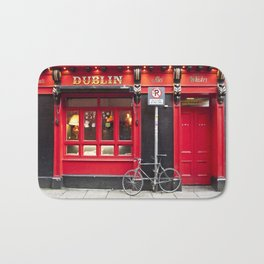 Red Dublin Pub Bath Mat