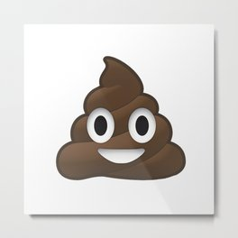 Whatsapp - Poop Metal Print