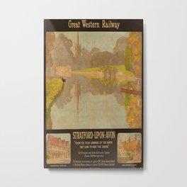 GWR Stratford Upon Avon Vintage Travel Poster Metal Print