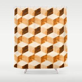 global mod cubic Shower Curtain