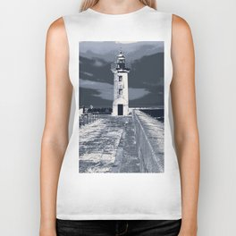 like a lighthouse Biker Tank