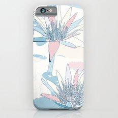 Waterlilies in pastels Slim Case iPhone 6s