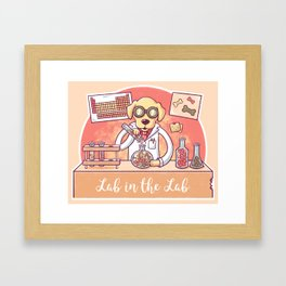 Lab in the Lab Framed Art Print