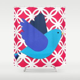 A Free Bird, A Caged Bird Shower Curtain