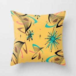 Mid Century Modern Retro Throw Pillow