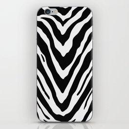 Zebra Stripes in Black and White iPhone Skin