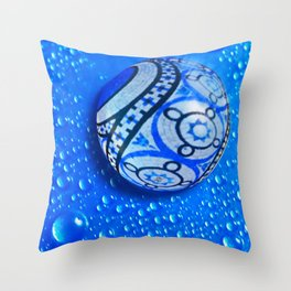 Stone And Water Orb Abstract Throw Pillow