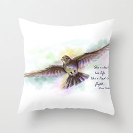 Natasha's Skylark-Stevie Nicks Quote Throw Pillow