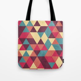 TRIANGLES RED Tote Bag