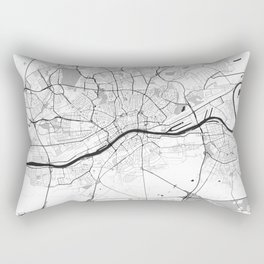 Frankfurt City Map Gray Rectangular Pillow