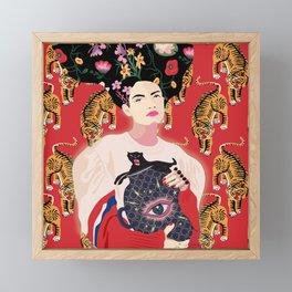 Let your mind blossom - Fashion portrait Framed Mini Art Print