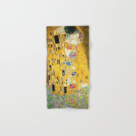 Gustav Klimt The Kiss Hand & Bath Towel