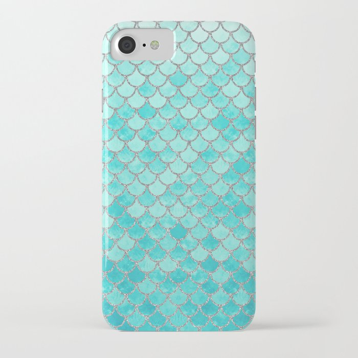 Teal Mermaid Scales iPhone Case