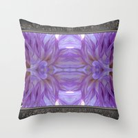randy c Throw Pillows featuring Mingus Randy Abstract by JMcCombie