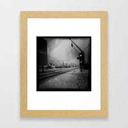 February in Montreal / Montréal en février Framed Art Print